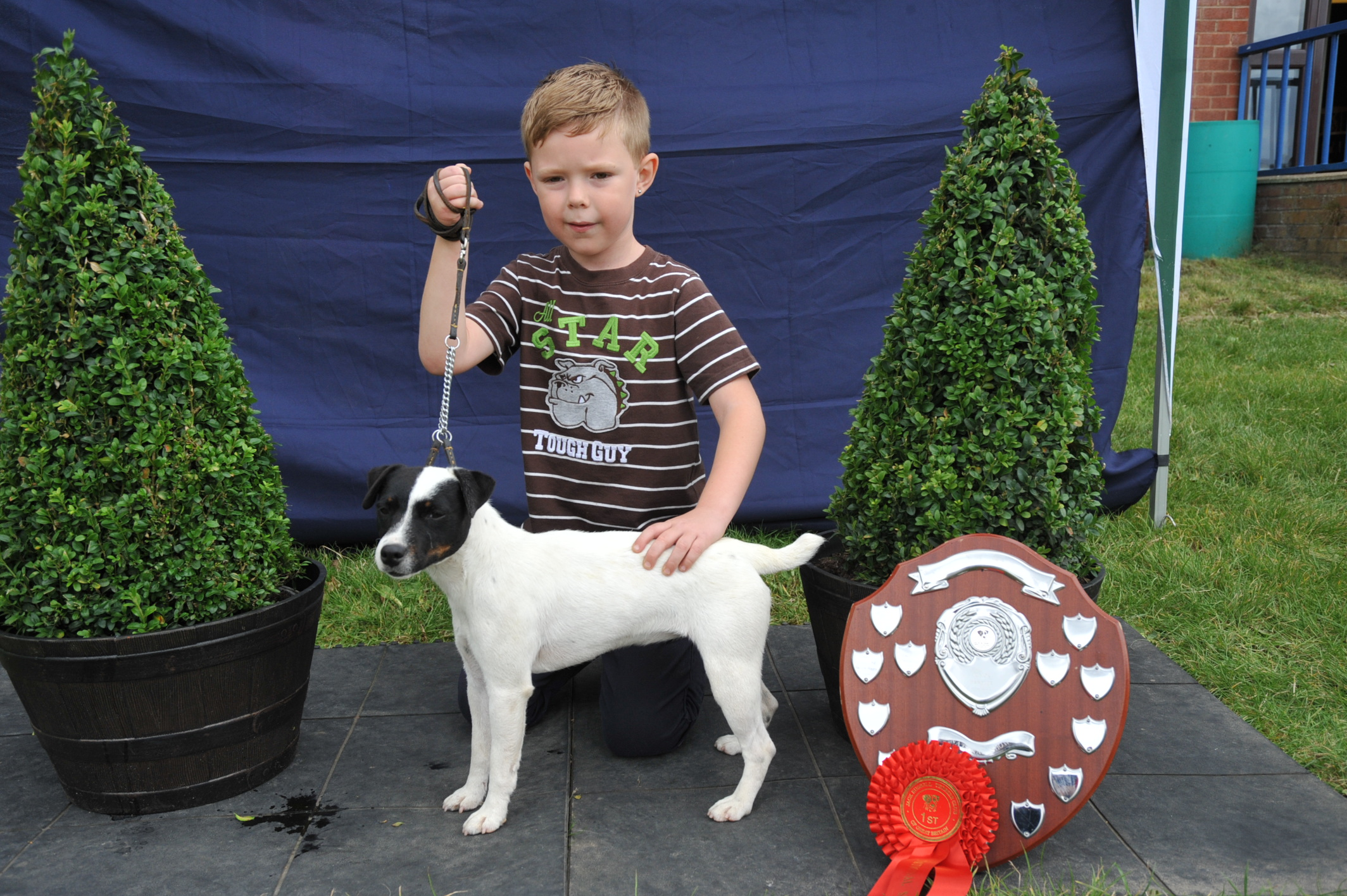 Class 17 Junior child handler Jack Dalton - Topdraw Luna