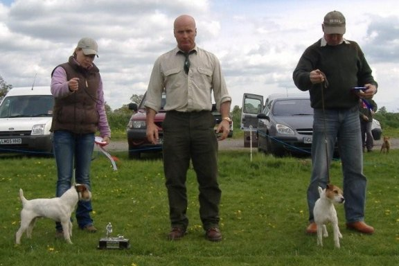 Best Jack Russell (left) and Reserve | Becky Smith Radbourne Spin (left) and Reserve Steve Parkin Foxgrove Ruby