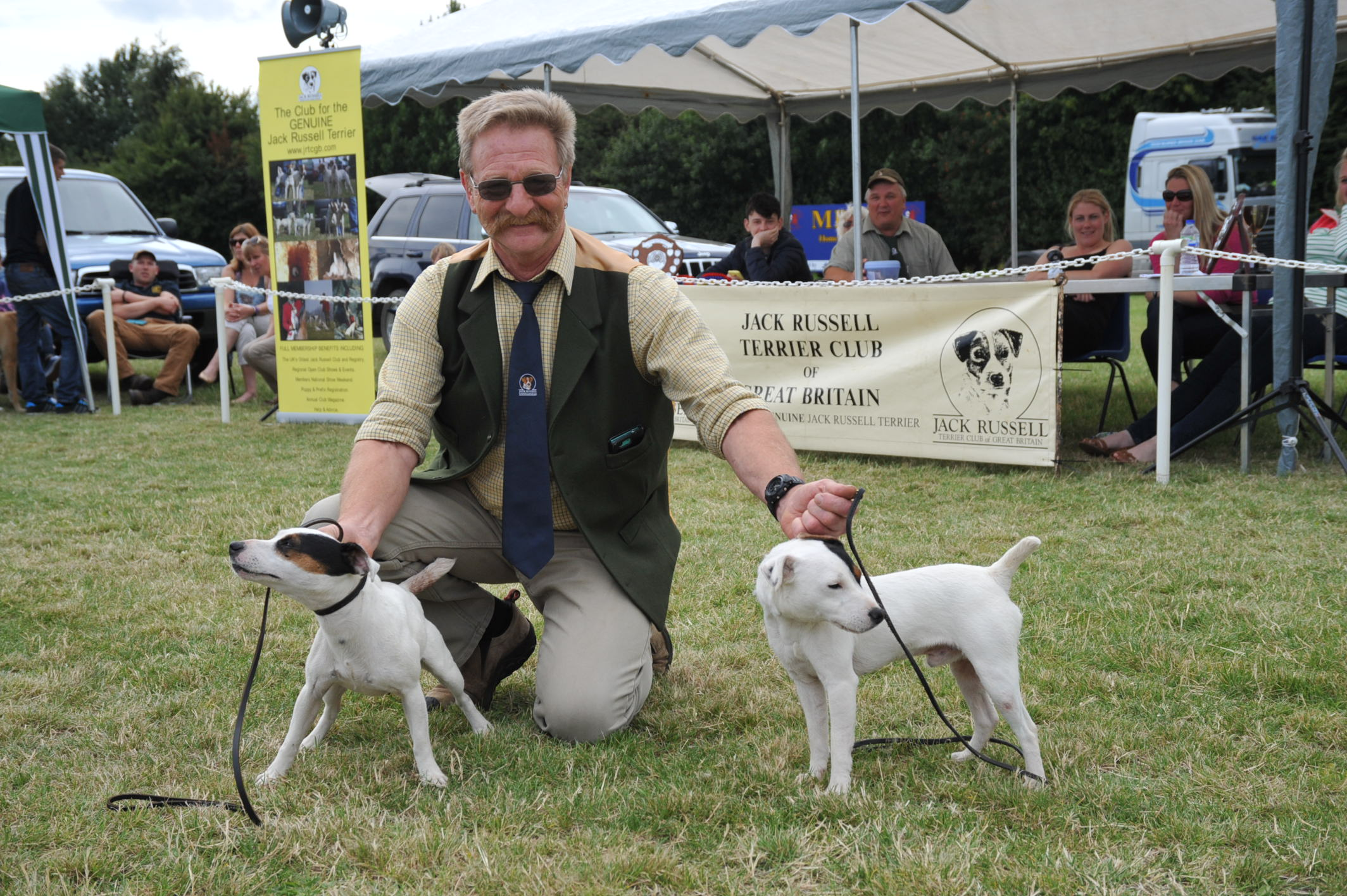 Class 27. Best Matched Couple of Terriers  Stan & Mallow - Simon Apps