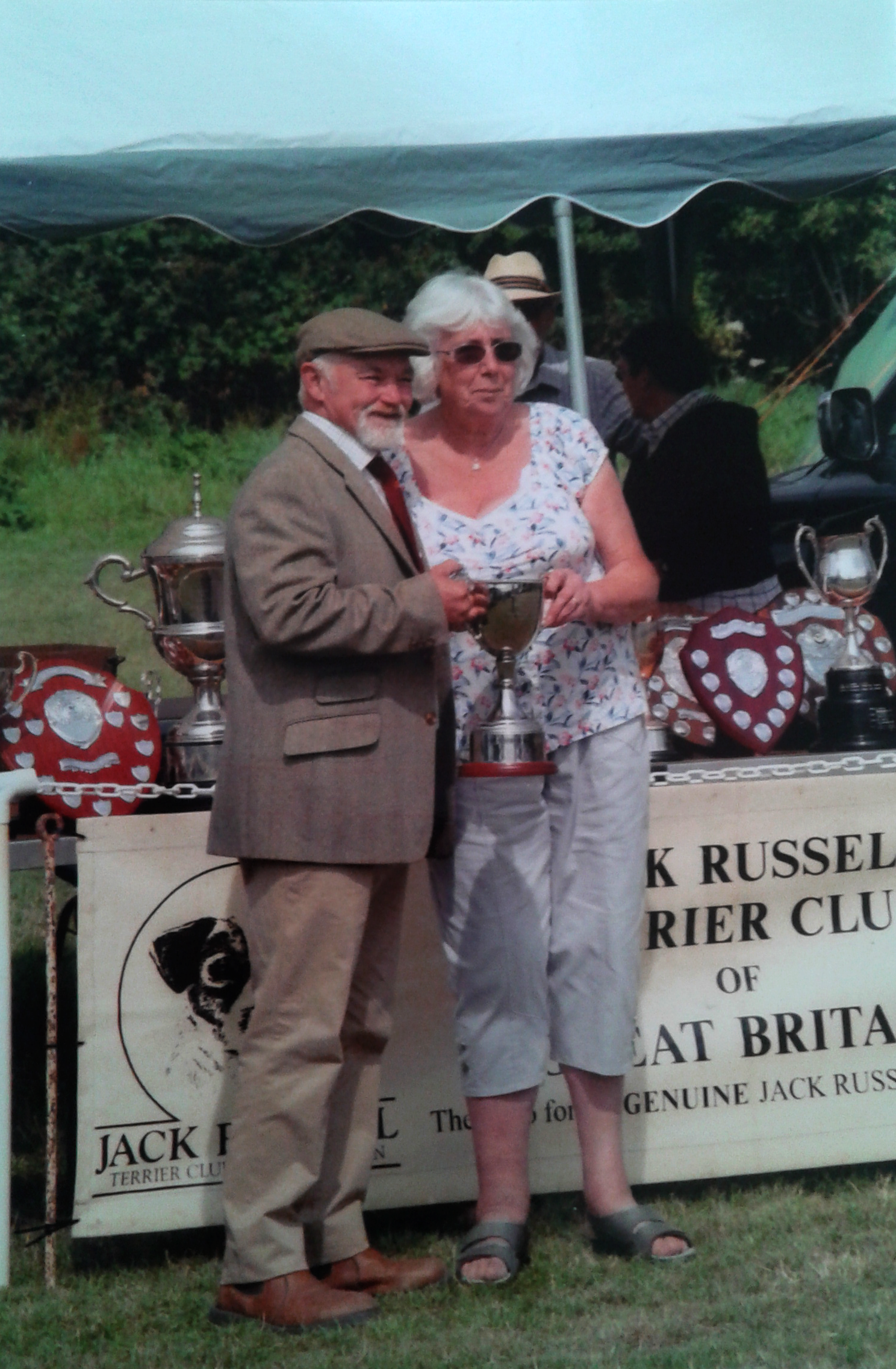 """Mary Clarke receiving the annual Thelma Loomes Memorial Award for """"The Best Club Member""""   Donated by Mr D Mackin"""