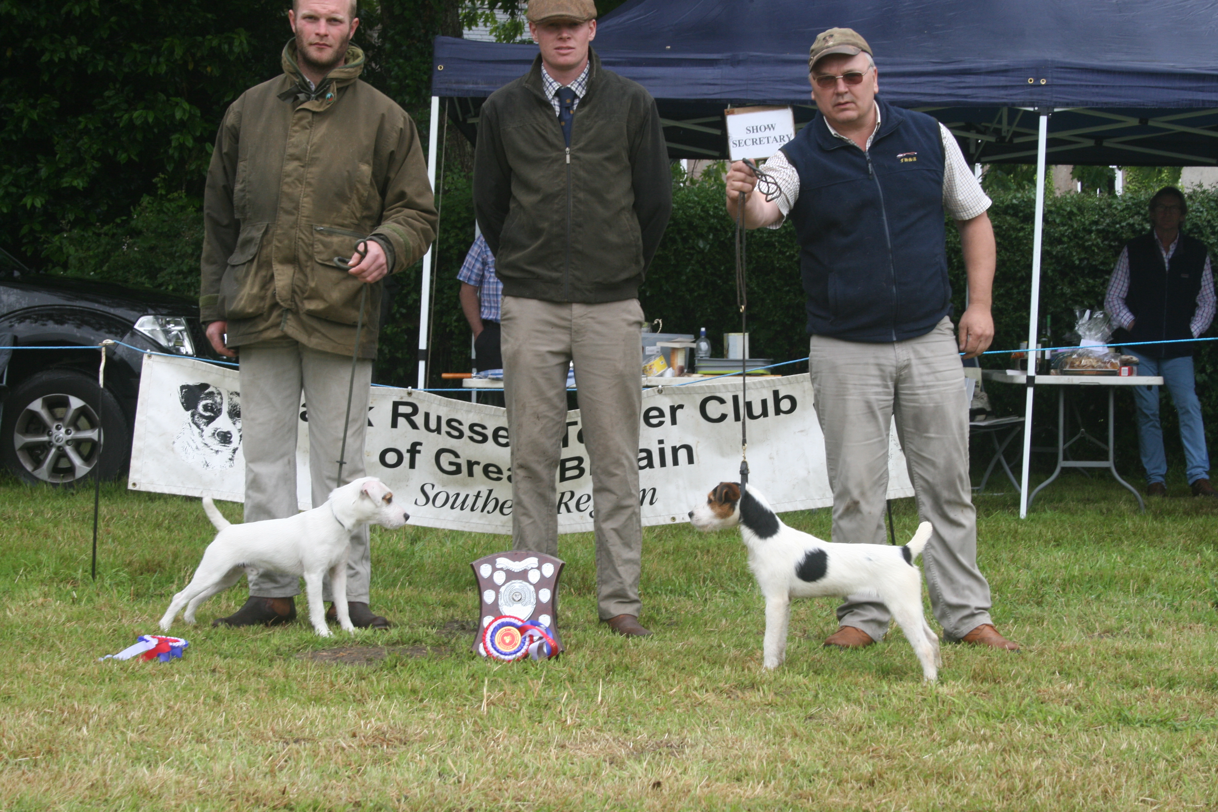 Champion Puppy M Hulme Rushill Pearl (right) judge Lewis Strawbridge Reserve B Turpie Sherdell Nelson II