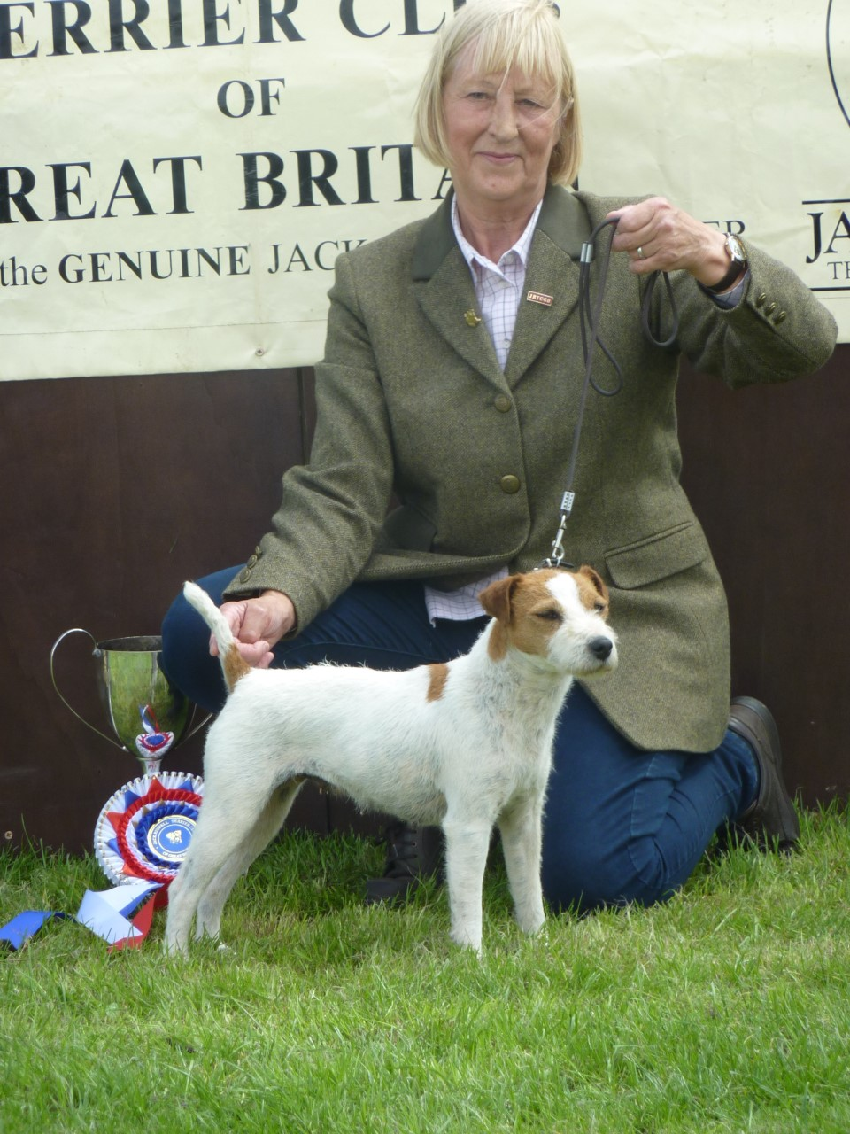 Class 20 JRTCGB National Show Reserve Champion, Cadella Lara, Jane Massarella.